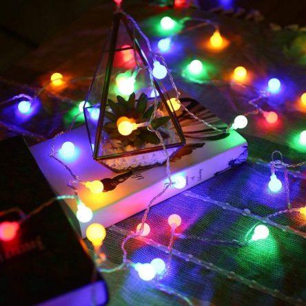 [Đầu cắm USB] Dây đèn LED hình trái Cherry xinh xắn dùng để trang trí nhiều màu sắc
