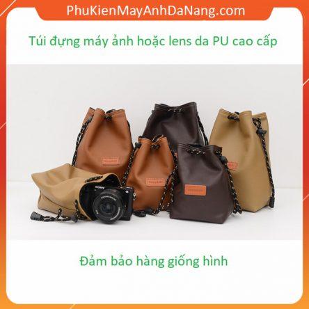 Túi đựng ống kính và máy ảnh chống sốc thời trang làm từ da PU cao cấp