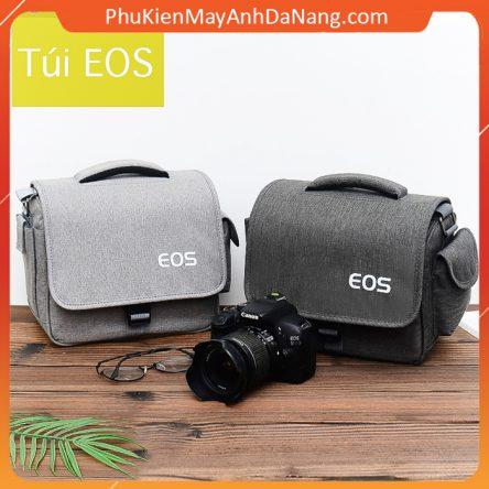 Túi máy ảnh Canon EOS túi đựng máy ảnh thời trang cao cấp kèm áo mưa
