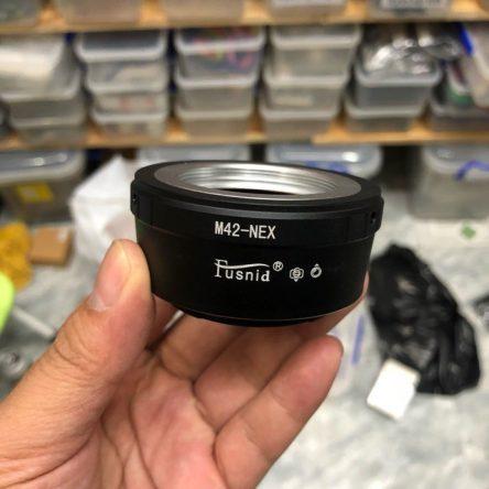 M42-NEX Adapter ngàm chuyển M42 lens sang máy Sony E-mount hiệu Fusnid