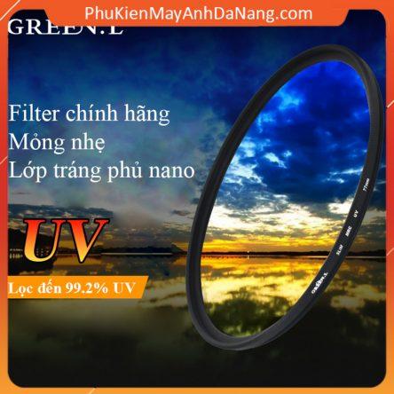 Kính lọc filter slim MRC UV chính hãng GreenL nhiều kích cỡ